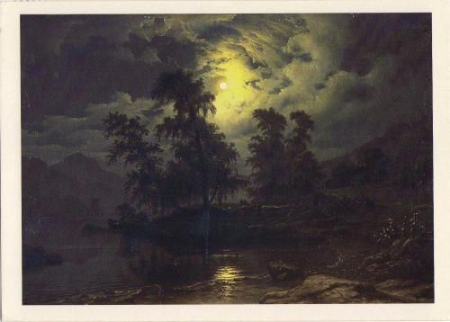 catonhottinroof:   Knud Andreassen Baade     Landscape in moonshine