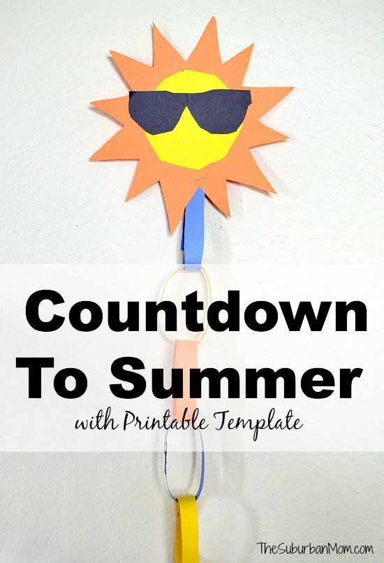 Countdown To Summer Craft + Template Summer crafts, Summer and Crafts