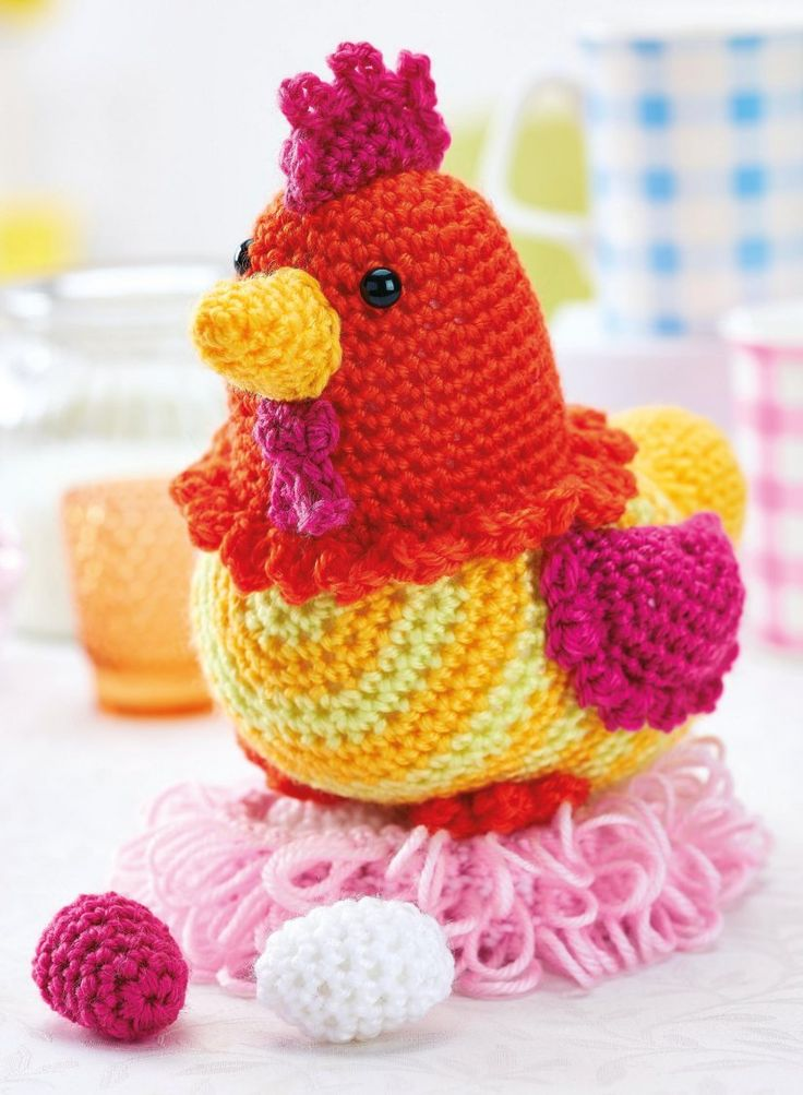 Crochet chicken free amigurumi pattern **Amigurumi Queen on Pinterest