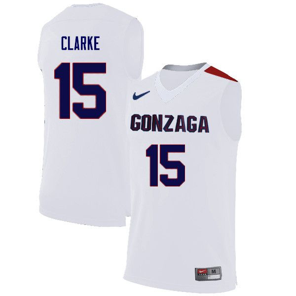 Men Gonzaga Bulldogs #15 Brandon Clarke College Basketball Jerseys ...