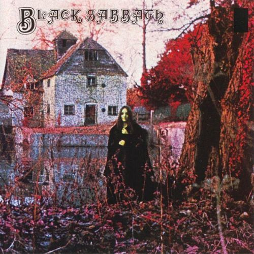 Black Sabbath's - first album in 1969.  With the Mapledurham watermill (in Oxford, UK) on the front cover.  Nicely satanic looking and with themes that fitted into the novels and occult books I was reading at the time.  Here started heavy metal.  AMx