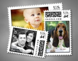 Create Your Own Real Custom Postage Stamp  Design your own original postage stamp as a finishing touch to a very special letter. A variety of sizes to choose from. Top quality products, no order minimum, made and shipped in 24 hours.