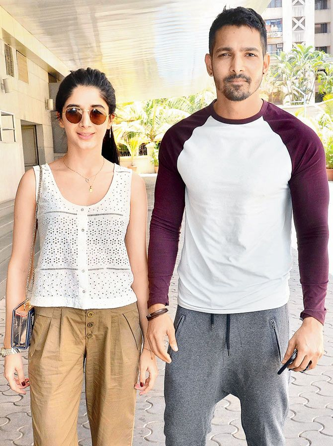 Harshvardhan Rane and Mawra Hocane at a movieplex. #Bollywood #Fashion #Style #Beauty #Hot #Sexy