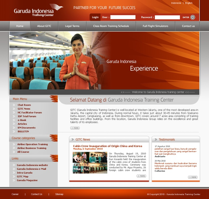 Garuda Indonesia Training Center - http://www.orbitbumi.com