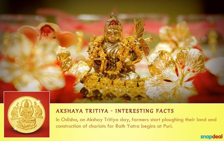 Akshaya Tritiya marks the day when farmers in Odisha plough their lands. http://www.snapdeal.com/offers/Akshayatritya_special