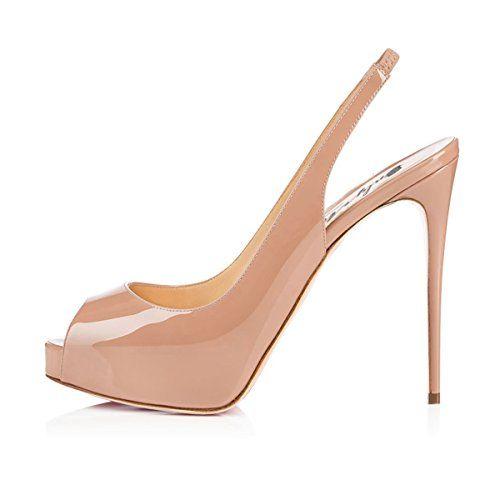 Onlymaker Damenschuhe High Heels Peep Toe Color-Block Slingback Pumps - http://on-line-kaufen.de/onlymaker/onlymaker-damenschuhe-high-heels-peep-toe-color