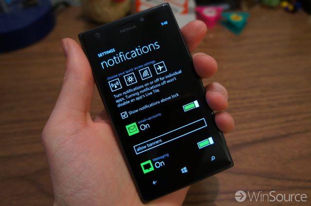 Windows Phone 8.1 Notification Settings