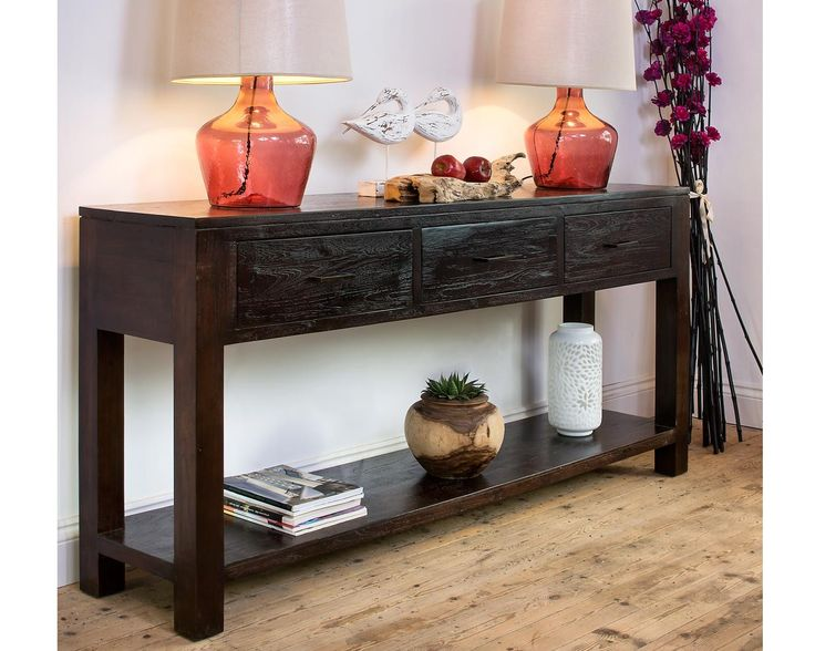 Superb Indah Dark Large Console. Wooden Console TableConsole TablesAged WoodTeak  ...