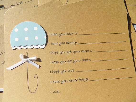 Baby Wishes Cards  Baby Shower Advice Cards   Baby by suziescards, $10.00