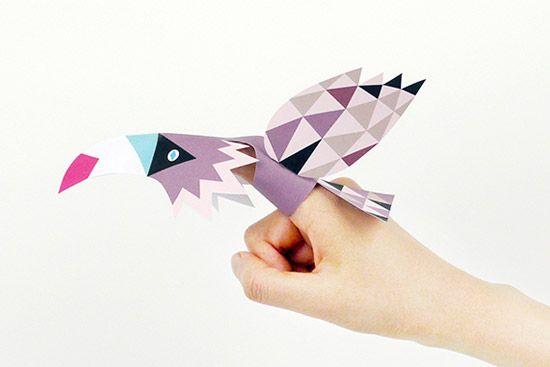Детские поделки из бумаги — шаблоны птиц