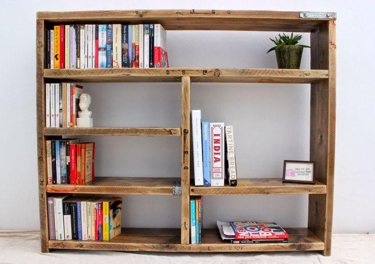 TRUMAN | Reclaimed Wood Bookcase - Handmade & Bespoke by OldManAndMagpie on Etsy https://www.etsy.com/listing/212541181/truman-reclaimed-wood-bookcase-handmade
