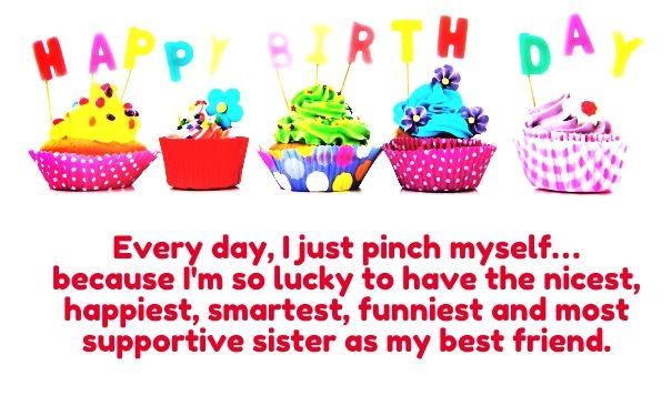 Happy Birthday Quotes for Sister with Images