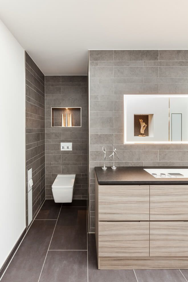 textured cabinets for a modern neutral bathroom get this look with fishermans wharf textured