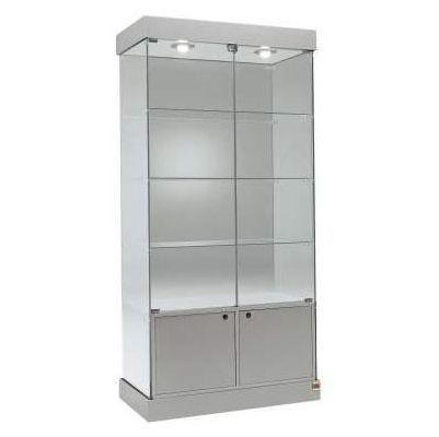 Glass Display Cabinets with Lower Cupboard