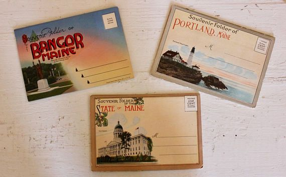 Three Pristine Vintage Souvenir Photo Folders of Portland