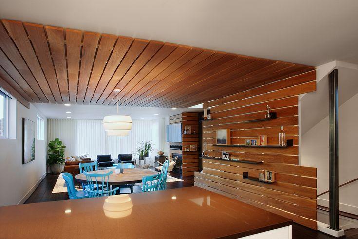 Modern wood slat wall modern white oak slat wall sealed with boiled linseed oil wood slat - Wood slat ceiling system ...