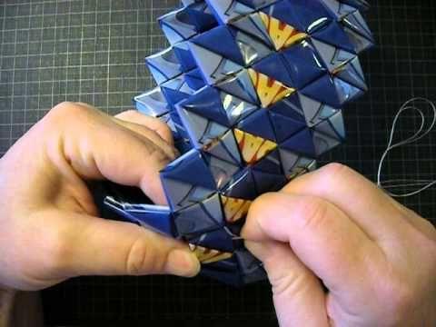 sådan syr du trekantsflettet   ringe sammen...