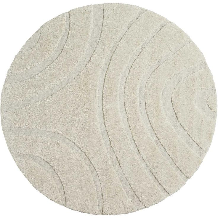 Austin White 8 ft. 2 in. x 8 ft. 2 in. Round Area Rug