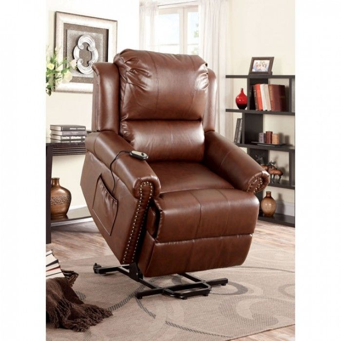 Patton Brown Leatherette Power Lift Chair Recliner CM-RC6997 furniture of America  sc 1 st  Pinterest & 26 best Power Lift Chairs images on Pinterest | Recliner chairs ... islam-shia.org