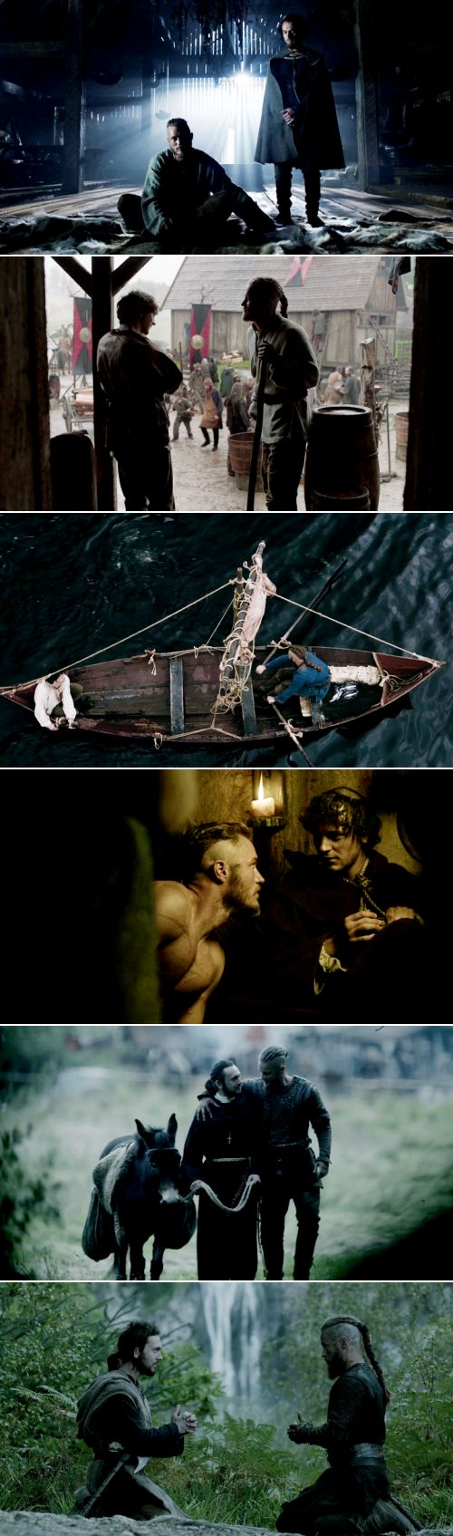 """Ragnar + Athelstan: """"I hope that someday our gods can become friends."""" #vikings"""