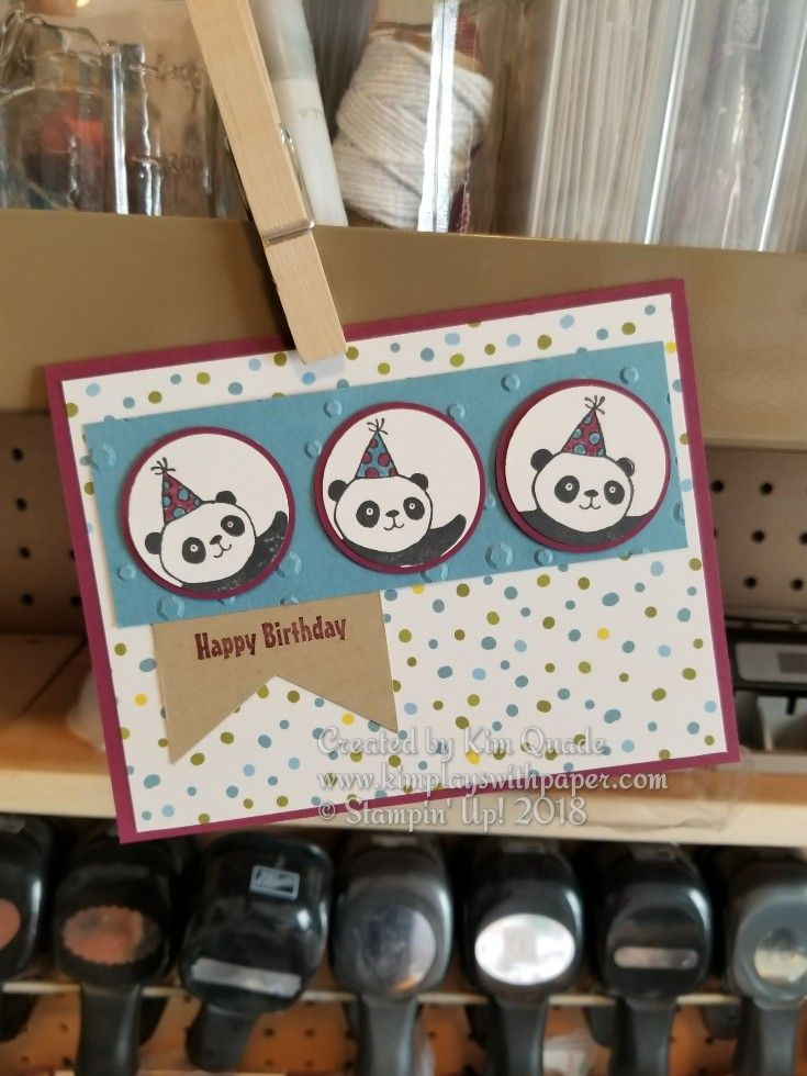 Stampin' Up!, Party Pandas, Sweet Soiree Designer Series Paper, 2018 Sale-A-Bration, Birthday, http://www.kimplayswithpaper.com/home/sale-a-bration-and-occasions-catalogs-debut-today
