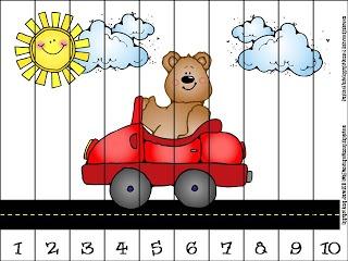 Transportation 1-10 Puzzle