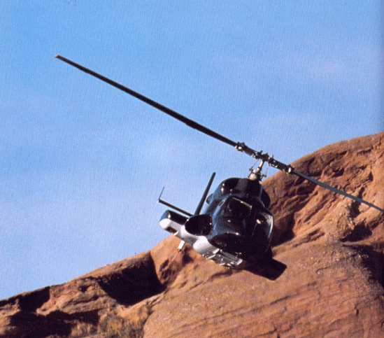 """Airwolf, a modified Bell 222  RoleDisguised military helicopter  Manufacturer""""The Firm""""  DesignerDoctor Charles Henry Moffet  First flight1983  Primary userStringfellow Hawke  Number built1  Unit cost~US$ one billion (1984 price)  Developed fromBell 222"""