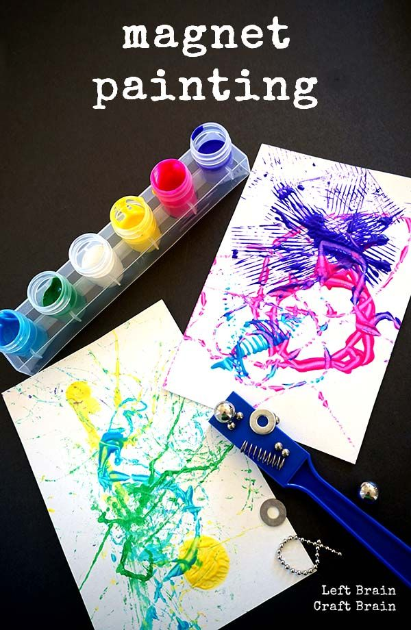 Magnet painting is science and art wrapped up in a colorful package.  And it's a simple set-up project too. STEAM (Sci/Tech/Eng/Art/Math) at it's easiest.