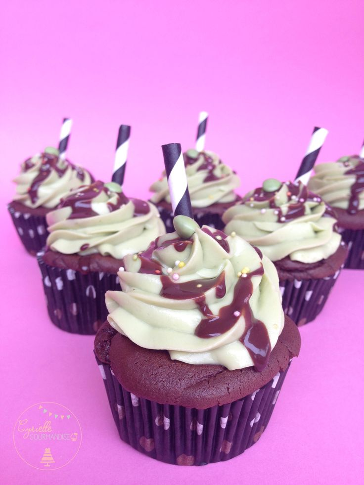 Cupcakes chocolat-avocat – Bataille Food #27