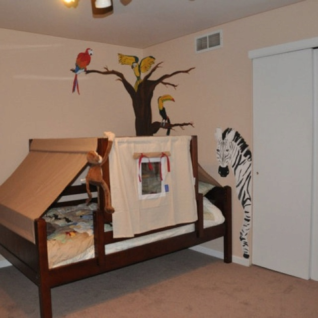 Jungle room & 109 best Jungle images on Pinterest | Child room Class decoration ...
