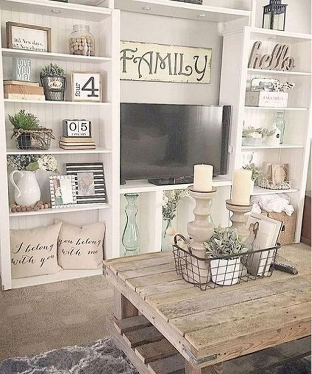 Modern Farmhouse Design Ideas 25 In 2020 Tv Room Decor Farmhouse Decor Living Room Rustic Farmhouse Living Room