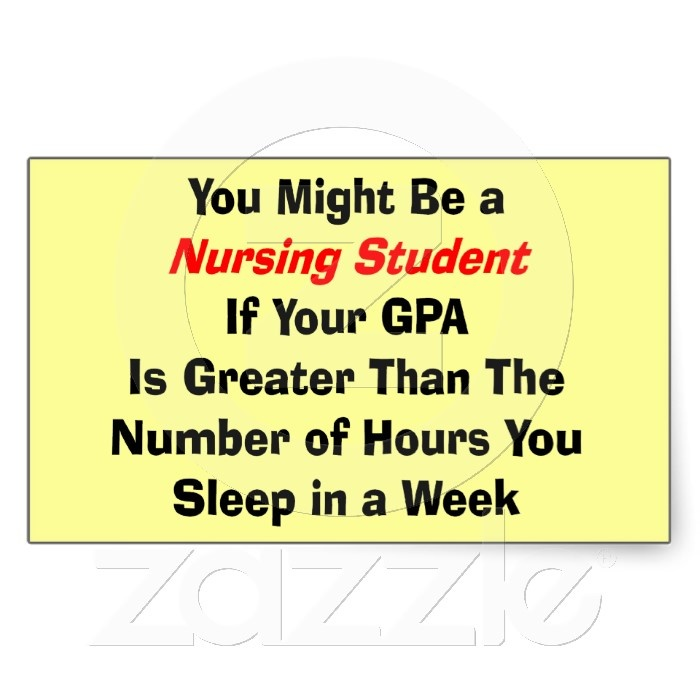 Funny Nursing Student Gifts Rectangular Stickers Nursing Student