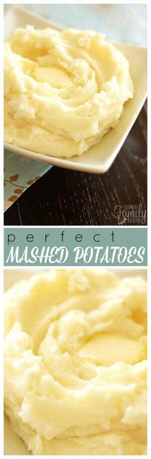 These mashed potatoes truly are perfect. They are light and fluffy and buttery, and the perfect side dish for turkey and gravy or roasted beef or pork.
