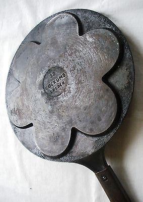 Plett Swedish Pancake Cast Iron Skillet Griddle Pan Kockums Sweden 32 Vintage