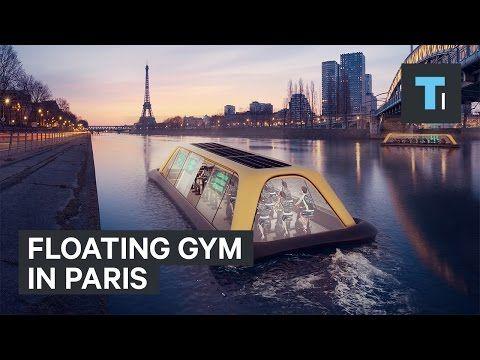 Πλωτό γυμναστήριο κινείται μέσα στον Σηκουάνα τροφοδοτημένο από την ενέργεια όσων γυμνάζονται | Κόσμος | VIDEOS | LiFO