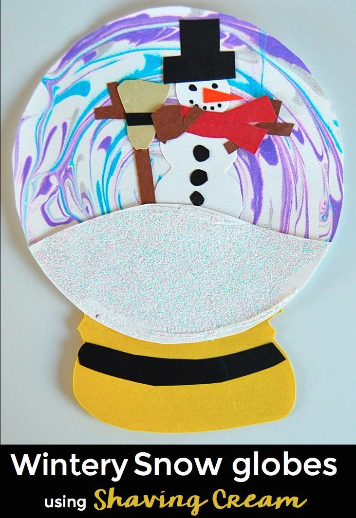 FREE - snow globes using shaving cream. Video included.