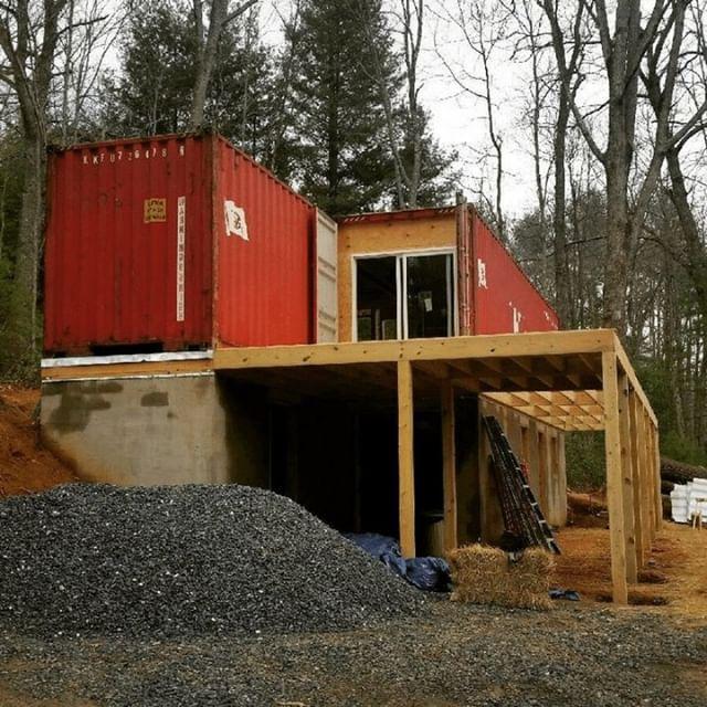 2 40 Boxes In North Carolina On Concrete Basement Foundation