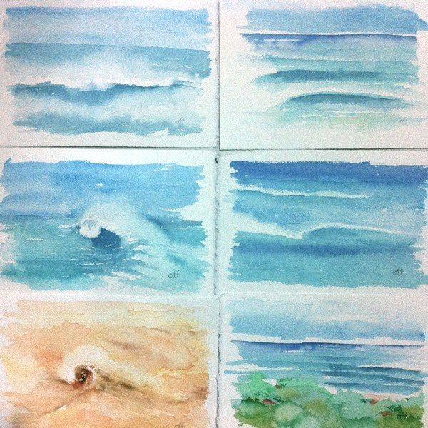 How To Paint Sea Watercolour Workshop By Sheila Gill