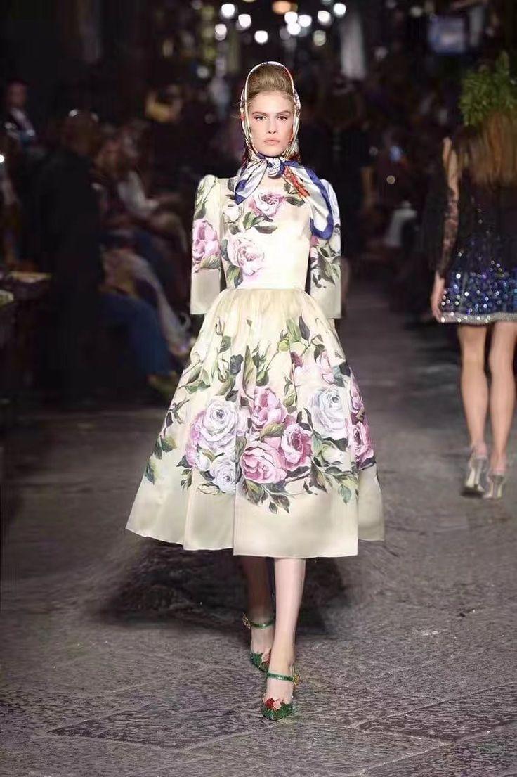 Платье Dolce Gabbana цветочный принт в пол!