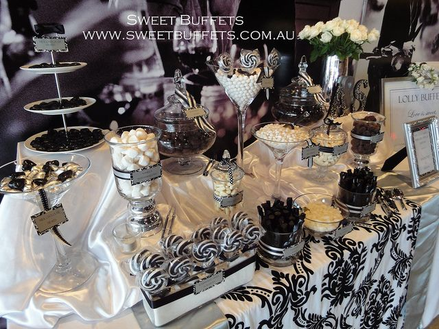 Black and White Lolly Buffet | Flickr - Photo Sharing!