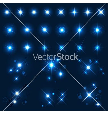 Collection of various forms of sparks vector 1302826 - by elenashow on VectorStock®
