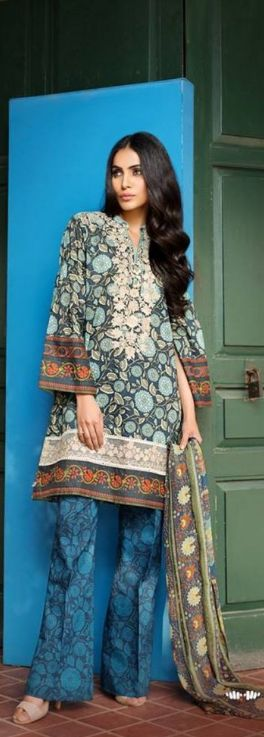 Khaadi Latest Lawn Embroidered Vol 1 Collection 2017 #Khaadi