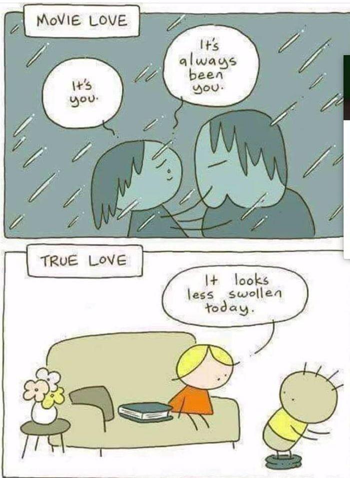 Movie Love Vs True Love True Love Funny Pictures Funny Sites