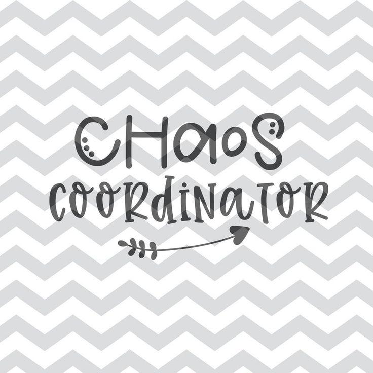 Download Chaos Coordinator SVG Digital File   Chaos coordinator ...