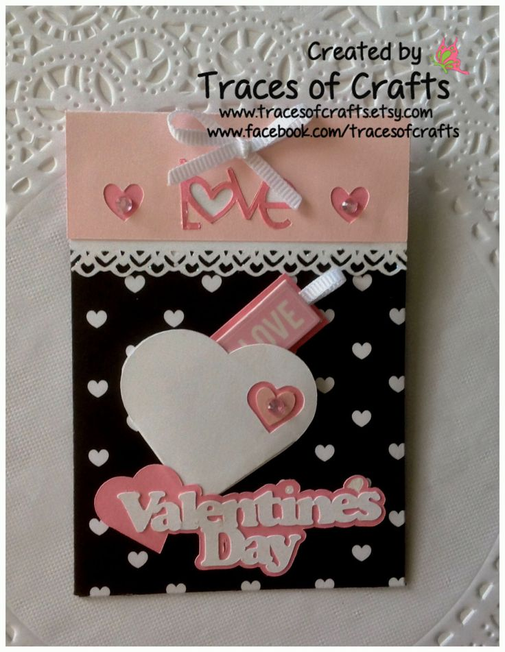 Valentines Gift Card Holder, Valentines Day Card - pinned by pin4etsy.com