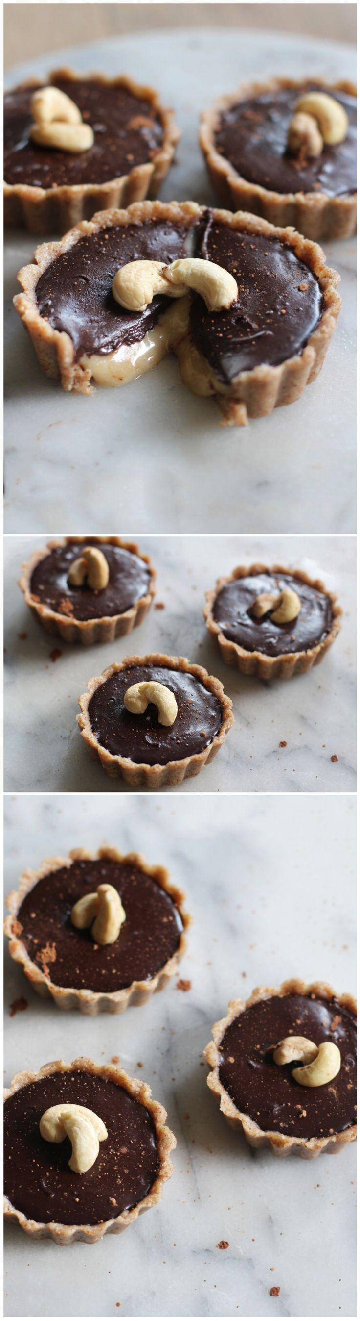 Chocolate Caramel #Vegan Tarts