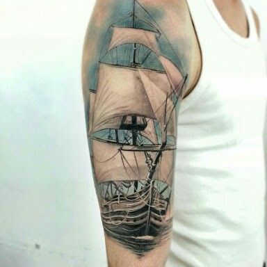 27 best images about tattoos navios e barcos on pinterest tall ships sailboat tattoos and plays. Black Bedroom Furniture Sets. Home Design Ideas