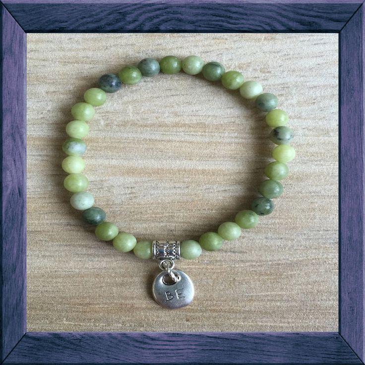 #HARMONY Yoga Mala: Jade - #BE #Charm Bracelet - #JADE is a stone of harmony - said to #bless whatever it touches.