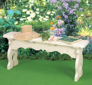 Victorian Bench Wood Project Plan Make This Elegant