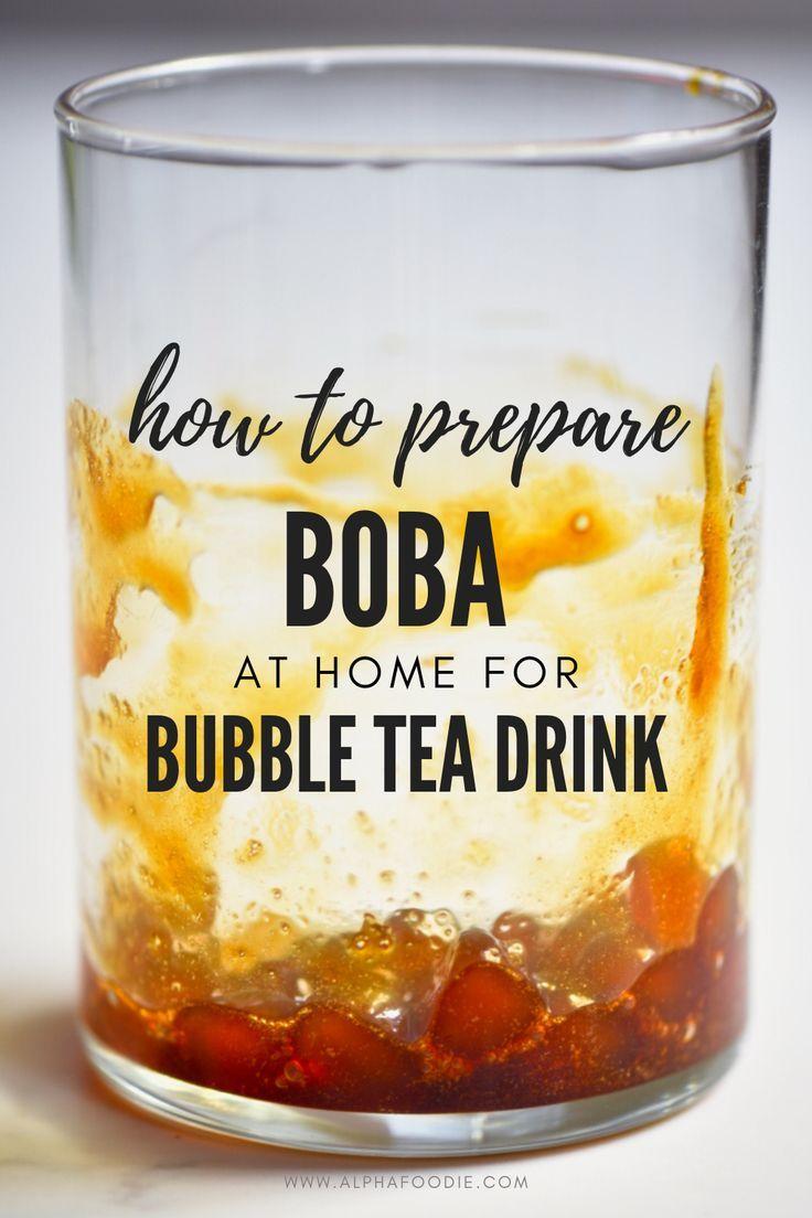 homemade boba tapioca pearls bubble milk tea recipe in 2020 milk tea recipes bubble tea recipe bubble tea flavors pinterest